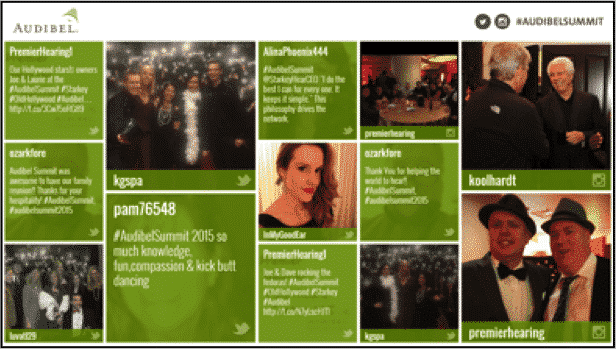 SocialPoint Social Media Wall for Events Flip Grid Template - Example 1