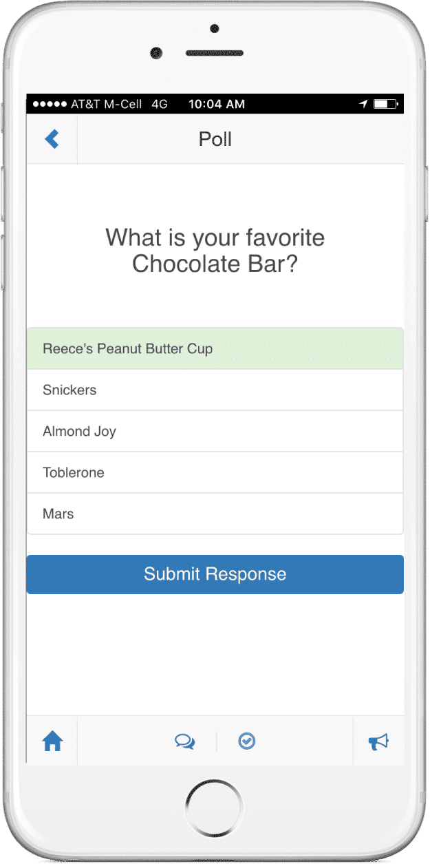 Attendee Poll App Screen
