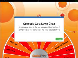 virtual prize wheel - prize screen