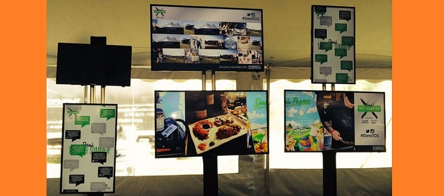 Digital flat screen monitors in your trade show booth.jpg