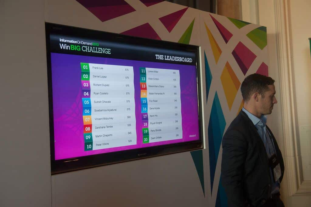 digital leaderboard for trade shows and events