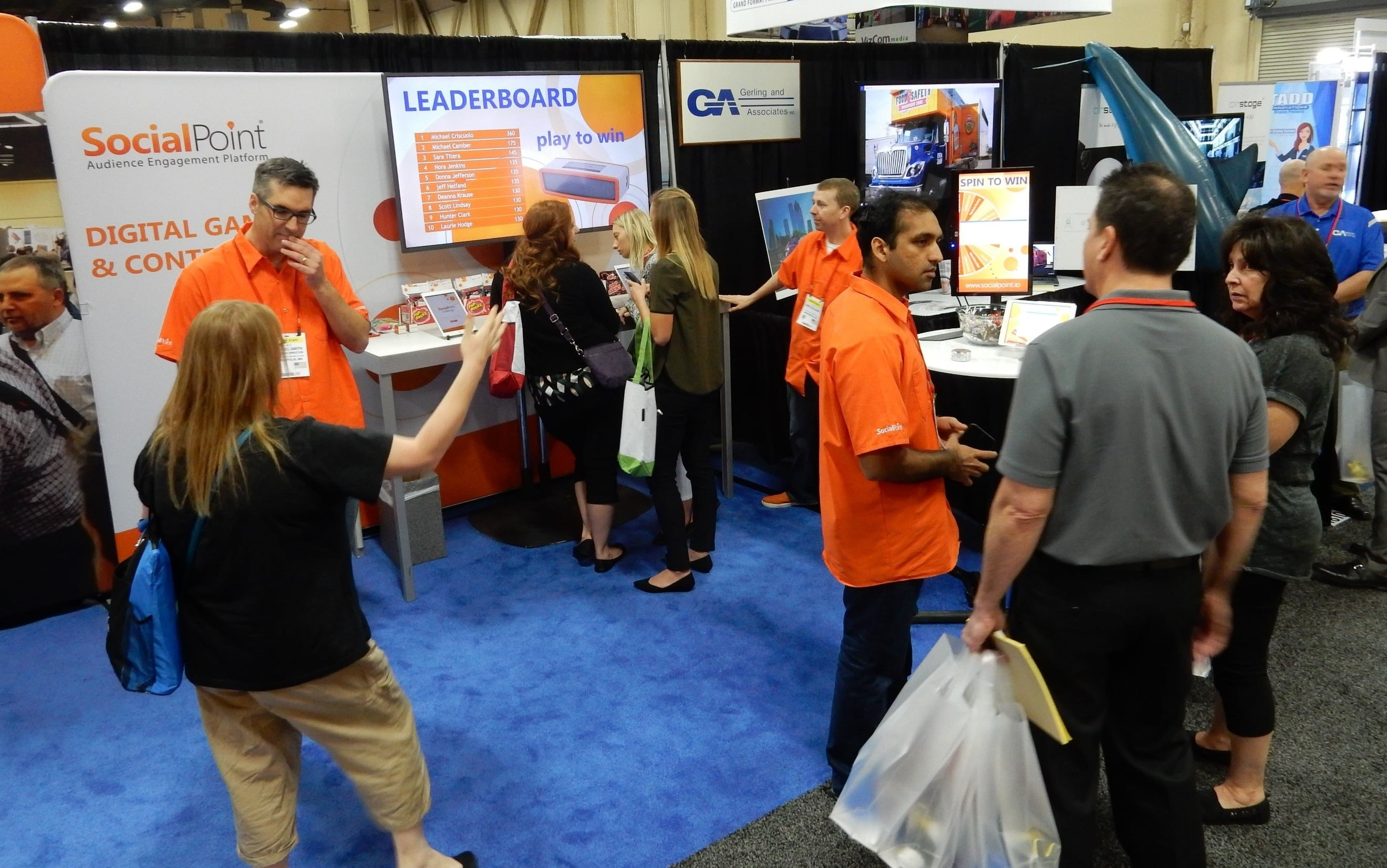 Trade Show Booth Games : How socialpoint just had a great trade show using our