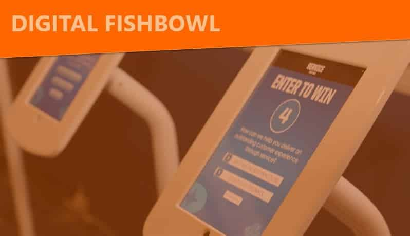 digital fishbowl trade show booth interactive
