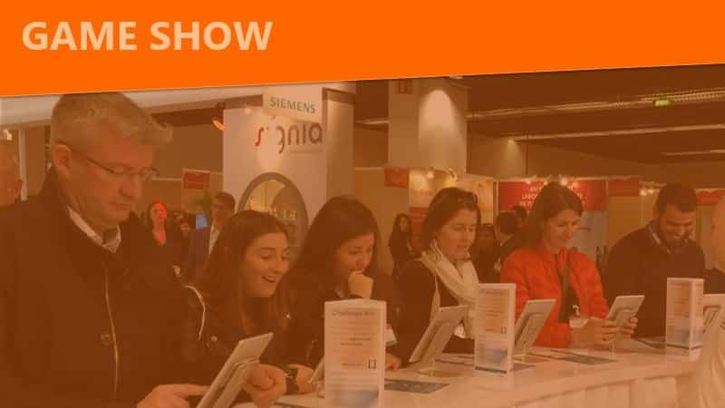 game show trivia game interactive activity for trade show booths