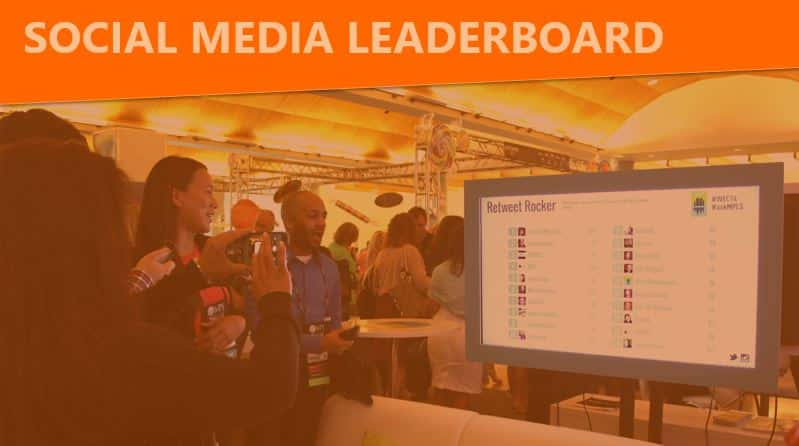 social media leaderboard contest for trade show displays