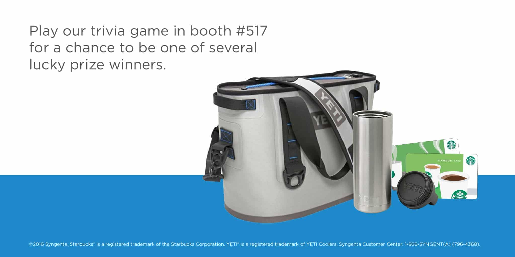 Trade show prizes for an interactive trade show game