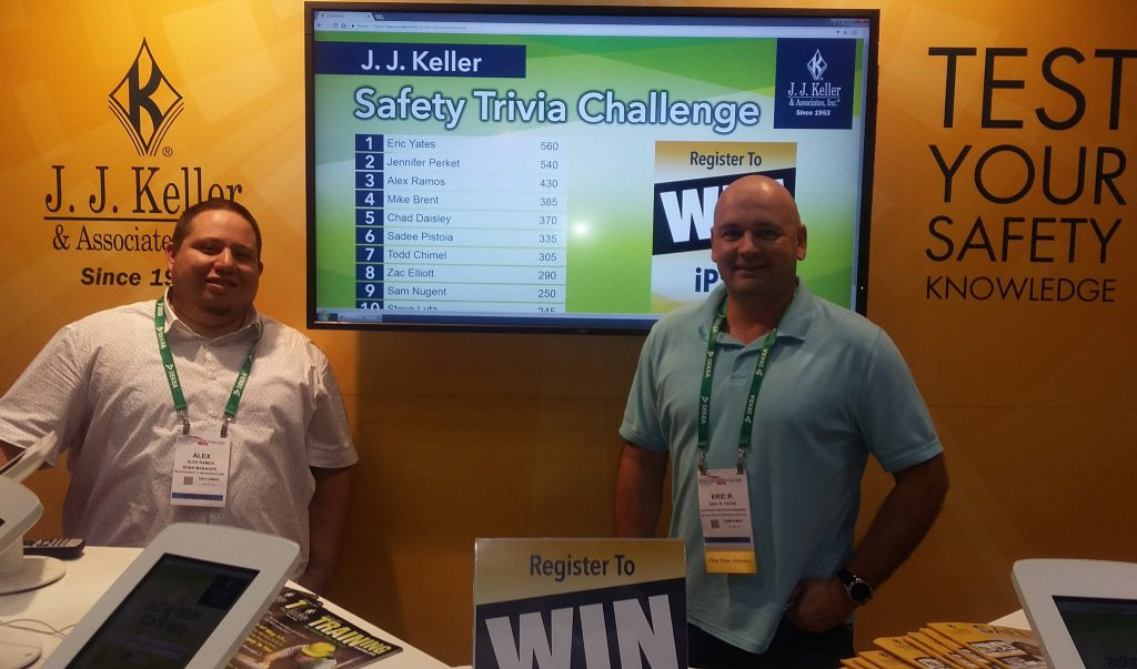 JJ Keller trivia winners at NSC 2017