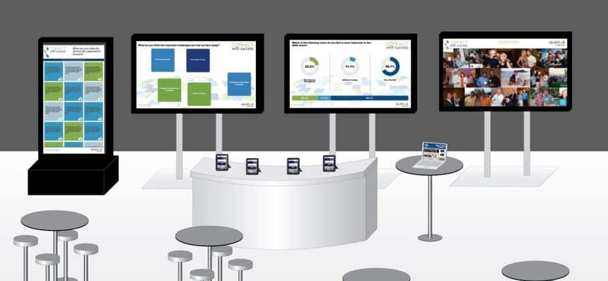 At Sales Meetings and Events - Create a Private Social Media Hub to Receive and Rank Ideas via Touchscreen