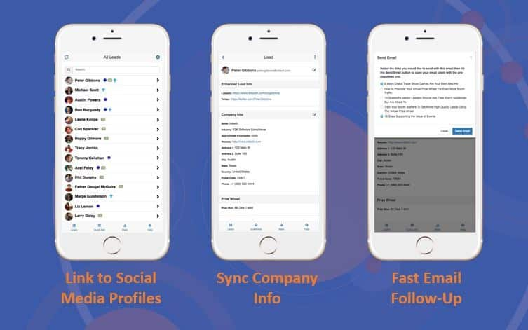 Lead Manager app to capture qualify and fulfill trade show leads