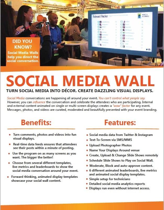 Social Media Wall Brochure