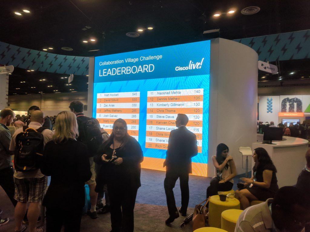 Cisco Live 2018 private trade show trivia game