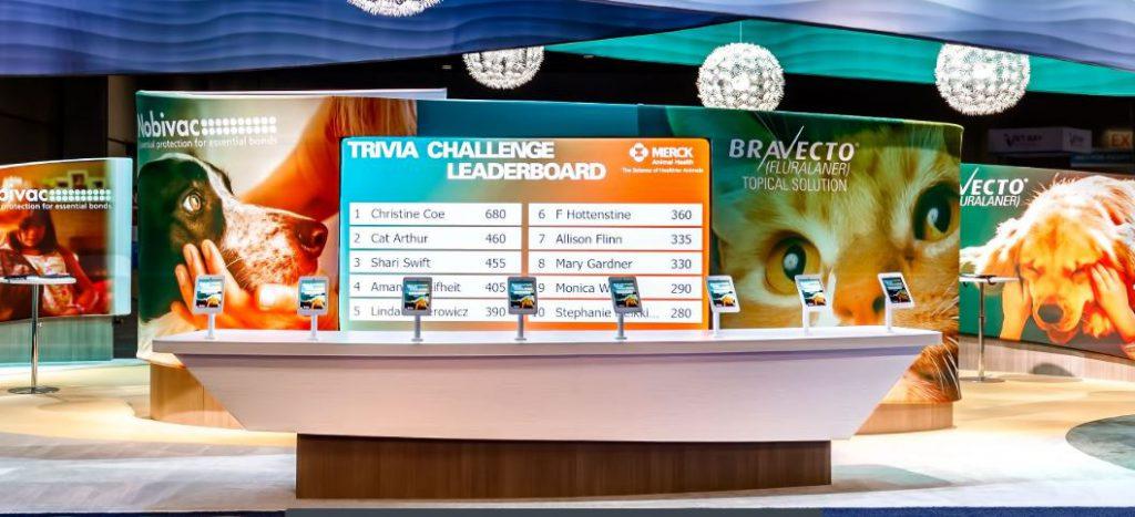 Merck Animal Health trivia leaderboard with top scorers