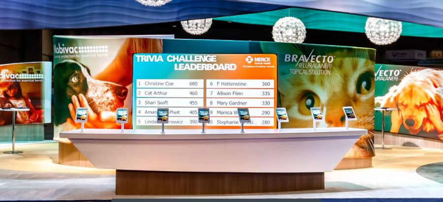 Merck Animal Health trivia leaderboard with top scorers