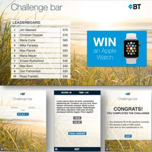 BT trade show trivia game design