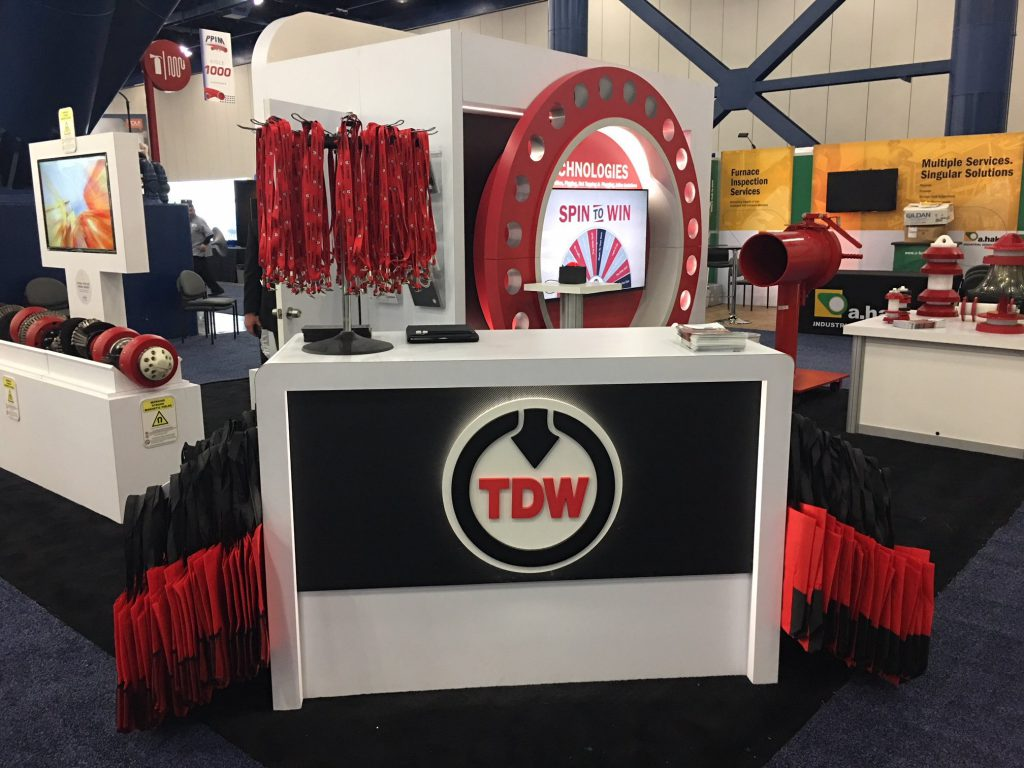 TD Williamson Virtual Prize Wheel at PPIM 2018 whole trade show booth