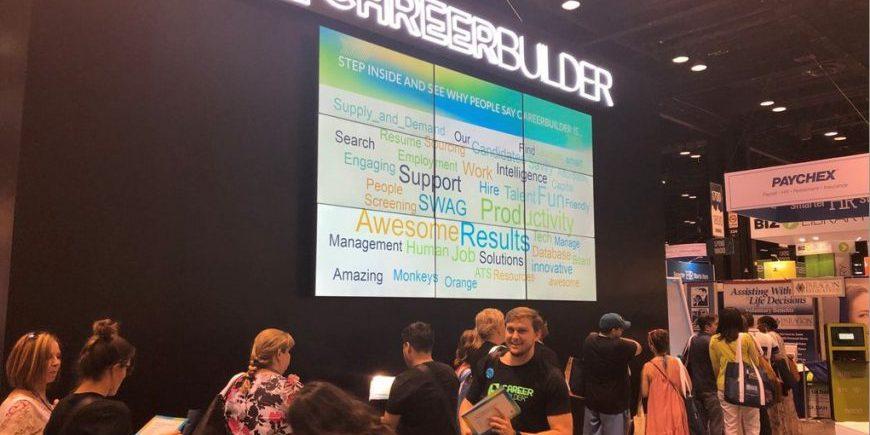 in booth digital trade show activities