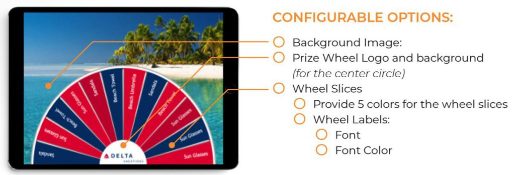 Virtual Prize Wheel - configurable options