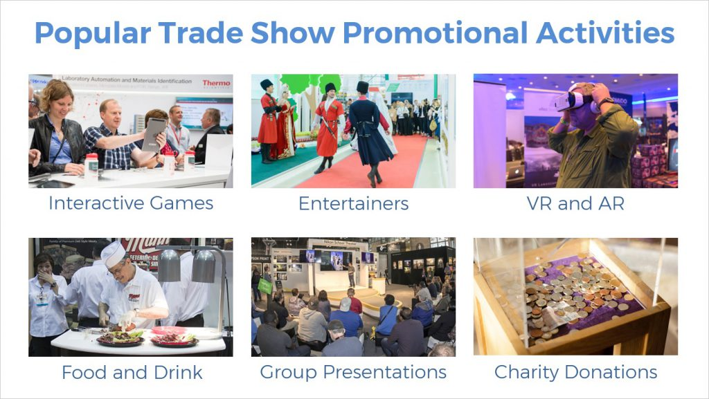 popular trade show promotional activities