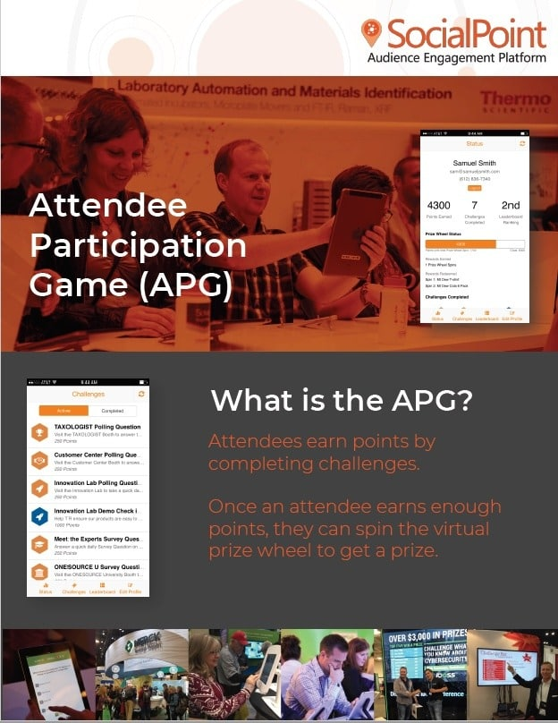 Attendee Participation Game Brochure