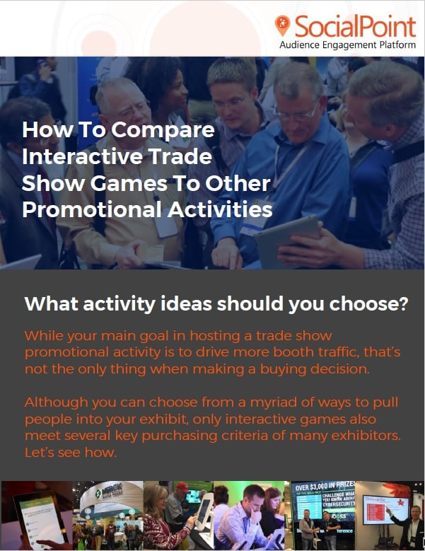 Trade show activity comparison tool