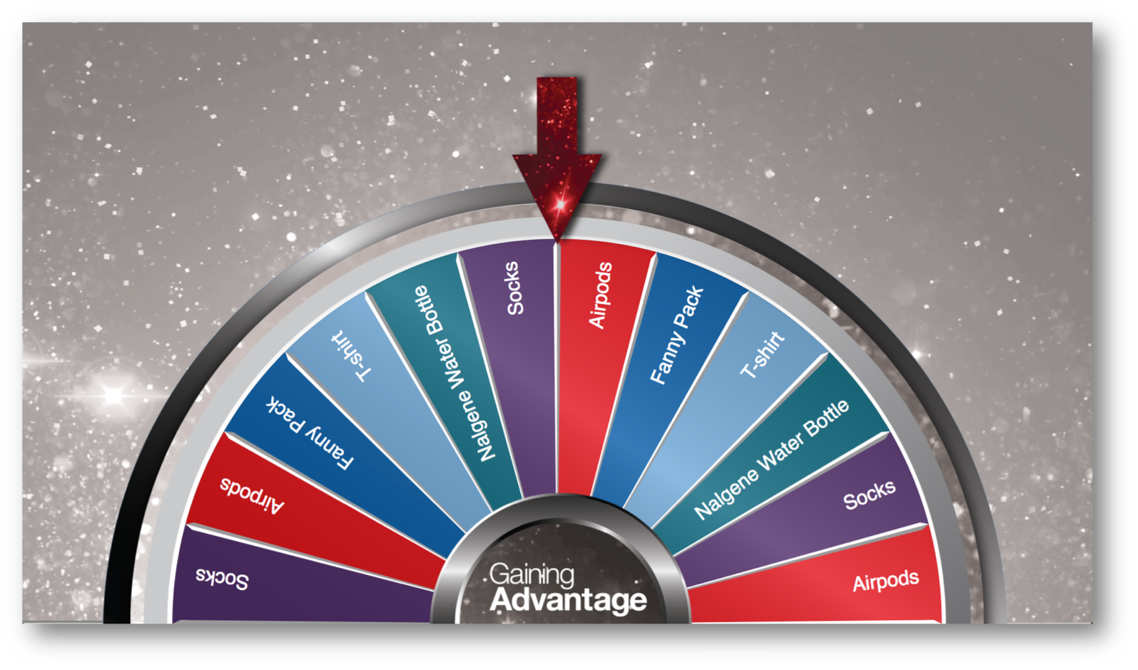 Virtual Prize Wheel for event gamification